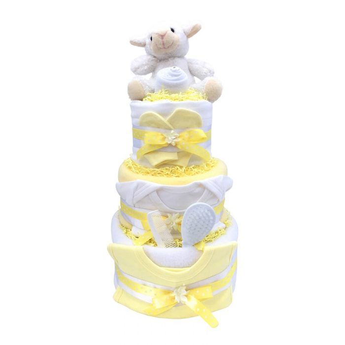 Neutral Three Tier Nappy Cake from Special Momentz Nappy Cakes
