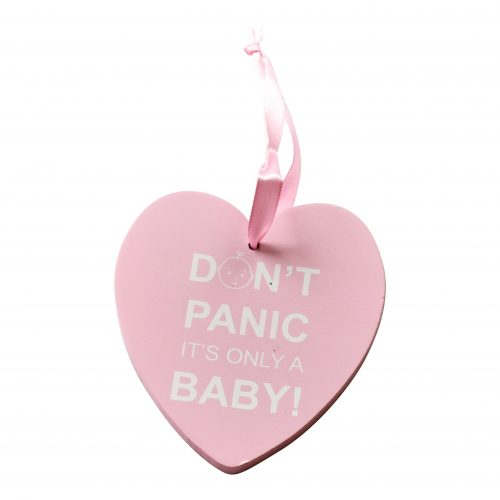 Dont Panic Pink Plaque