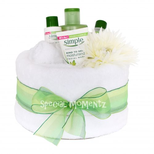 simple spa pamper cake