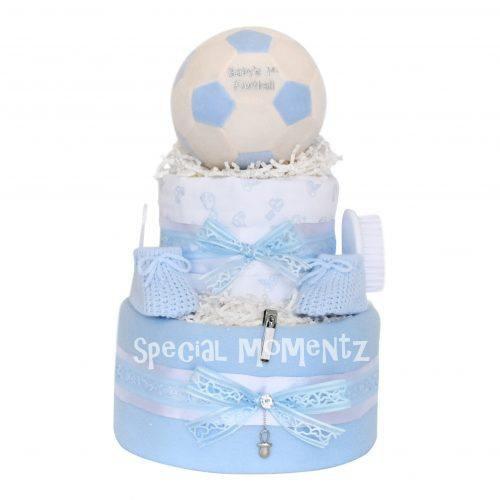 Boys Football Nappy Cake