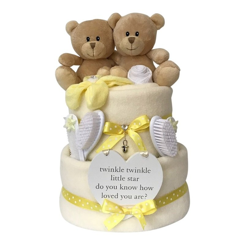 NEUTRAL TWINS NAPPY CAKE from Special Momentz Nappy Cakes