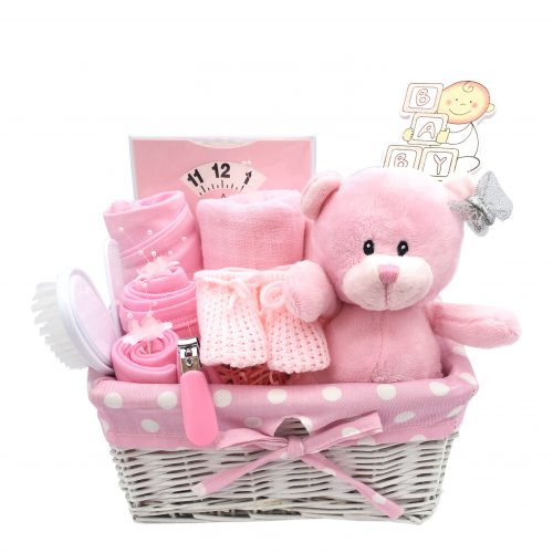 small pink hamper