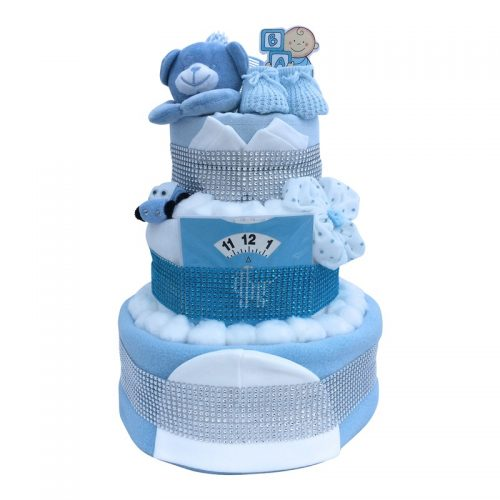 BLUE 3 TIER CAR CAKE from Special Momentz