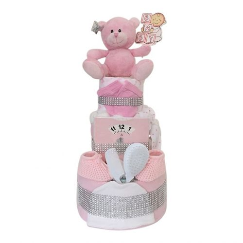 Three Tier Sparkly Nappy Cake