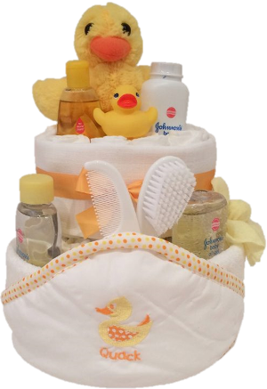 Duck nappy cake from Special Momentz